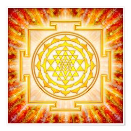 Poster  Sri Yantra - Artwork light - Dirk Czarnota