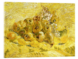 Akrylglastavla  Quinces, Lemons, Pears and Grapes - Vincent van Gogh