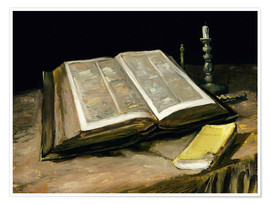 Premiumposter Still Life with Bible