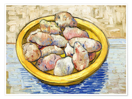 Premiumposter Potatoes in yellow bowl
