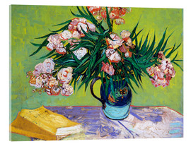 Akrylglastavla  Majolica Jar with Branches of Oleander - Vincent van Gogh