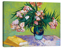 Canvastavla  Majolica Jar with Branches of Oleander - Vincent van Gogh