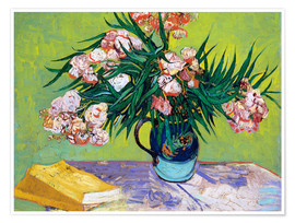 Premiumposter  Majolica Jar with Branches of Oleander - Vincent van Gogh