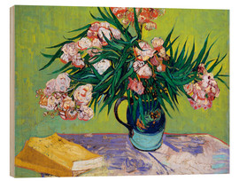 Trätavla  Majolica Jar with Branches of Oleander - Vincent van Gogh