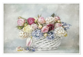 Poster  a basket full of spring - Lizzy Pe