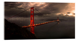 Akrylglastavla  Golden Gate mystical brown - Michael Rucker