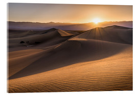 Akrylglastavla  Sunset at the Dunes in Death Valley - Andreas Wonisch