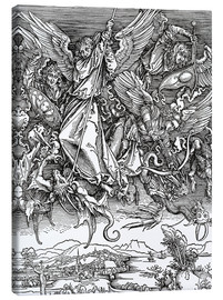 Canvastavla  Michael Slaying the Dragon - Albrecht Dürer