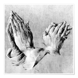Premiumposter  Hands of the Pope and an apostle - Albrecht Dürer