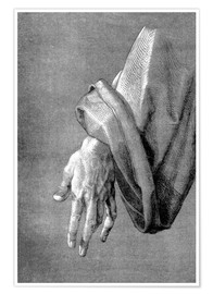 Premiumposter Left hand of an apostle