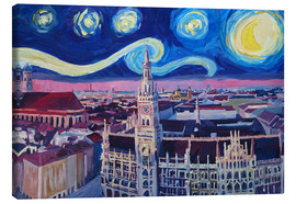 Canvastavla  Starry Night in Munich - M. Bleichner