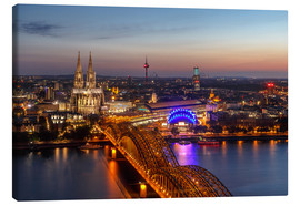 Canvastavla  Cityscape Cologne Germany - Achim Thomae