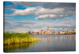 Canvastavla  View over the river Warnow to Rostock (Germany) - Rico Ködder