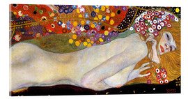 Akrylglastavla  Water Serpents II (detail) - Gustav Klimt