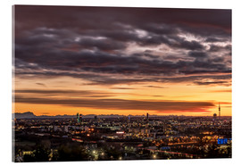 Akrylglastavla  Sunset over Munich (Bavaria) - Achim Thomae