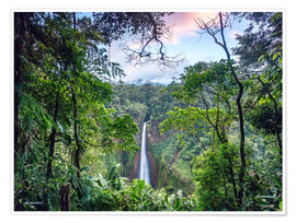 Premiumposter  Rainforest and Waterfall, Costa Rica - Matteo Colombo