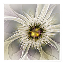Premiumposter Fractal Flower in precious look