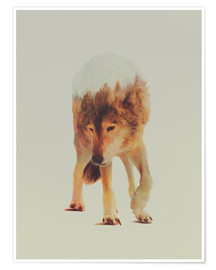 Premiumposter  Wolf in the Woods - Andreas Lie