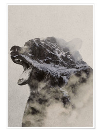 Premiumposter  Bear In The fog - Andreas Lie