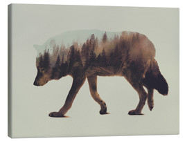 Canvastavla  Norwegian Woods The Wolf - Andreas Lie