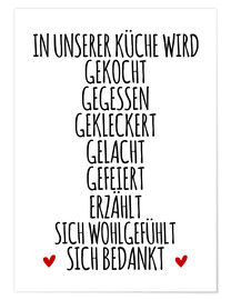 Poster In our kitchen (German)