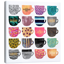 Canvastavla  Pretty Coffee Cups - Elisabeth Fredriksson