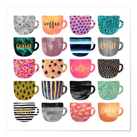 Premiumposter  Pretty Coffee Cups - Elisabeth Fredriksson