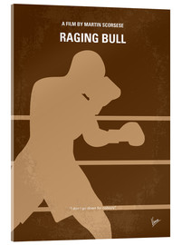 Akrylglastavla  No174 My Raging Bull minimal movie poster - chungkong