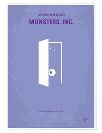 Poster No161 My Monster Inc minimal movie poster