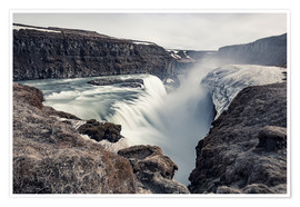 Premiumposter  Gulfoss - Images Beyond Words