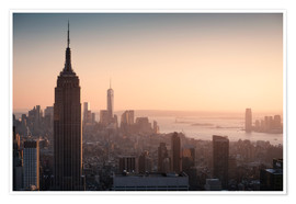 Premiumposter Sunset over NYC