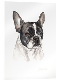 Akrylglastavla  French bulldog, black-white - Lisa May Painting