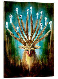 Akrylglastavla  The Deer God of Life and Death - Barrett Biggers