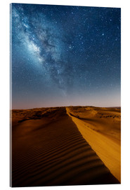 Akrylglastavla  Milky way over dunes, Oman - Matteo Colombo