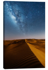 Canvastavla  Milky way over dunes, Oman - Matteo Colombo