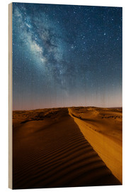 Trätavla  Milky way over dunes, Oman - Matteo Colombo