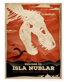 Premiumposter  Welcome to Isla Nublar - Albert Cagnef