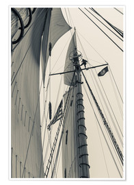 Premiumposter Schooner masts in Gloucester