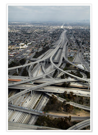 Premiumposter  Highways in Los Angeles - David Wall