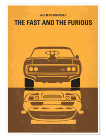 Poster  No207 My The Fast and the Furious minimal movie poster - chungkong