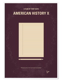 Poster No247 My AMERICAN HISTORY X minimal movie poster