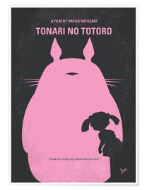 Poster  No290 My My Neighbor Totoro minimal movie poster - chungkong