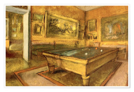 Premiumposter  Billiard Room at Menil Hubert - Edgar Degas