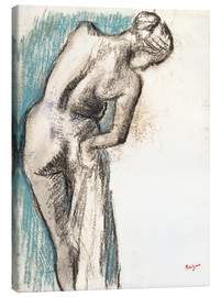 Canvastavla  Bather Drying Herself - Edgar Degas
