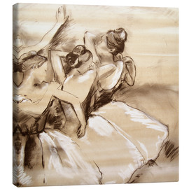 Canvastavla  dancers - Edgar Degas
