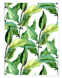 Premiumposter  Leaves pattern