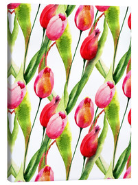 Canvastavla  Tulips flowers