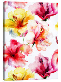 Canvastavla  Lily flowers in watercolor