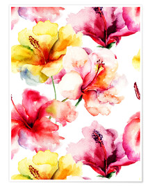 Premiumposter  Lily flowers in watercolor