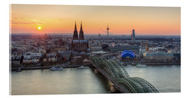 Akrylglastavla  Panorama view of Cologne at sunset - Michael Valjak